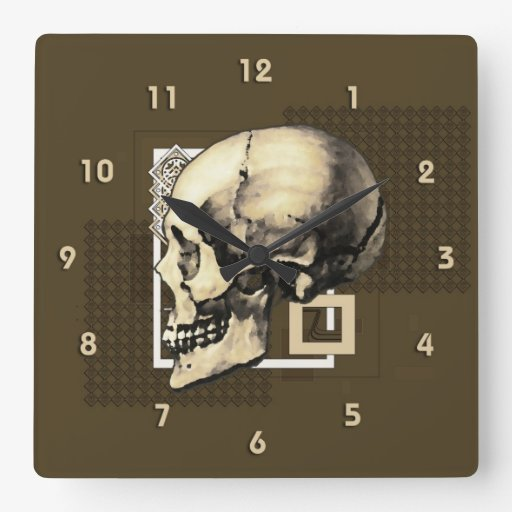 Skully Reloj Cuadrado