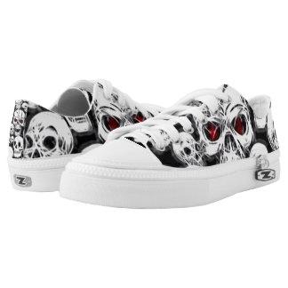 Skully Skull Boneyard Grunge Kickers Low-Top Sneakers