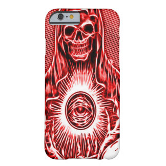 Skully Skull Death Fractal Reaper Barely There iPhone 6 Case