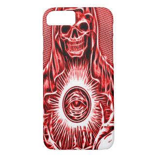 Skully Skull Death Fractal Reaper iPhone 8/7 Case