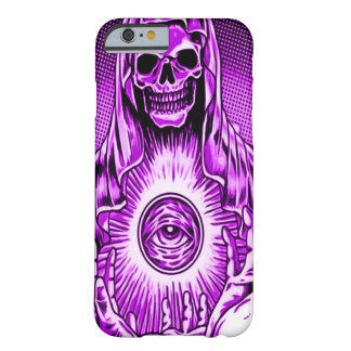 Skully Skull Evil Purple Eye Barely There iPhone 6 Case