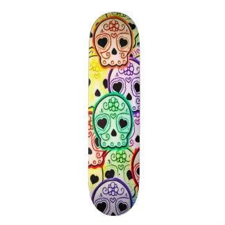 Skully Skull Girl Love Skateboard