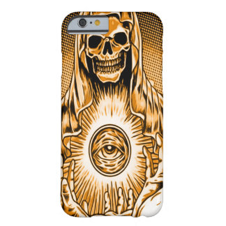 Skully Skull Gold Damnation Reaper Barely There iPhone 6 Case