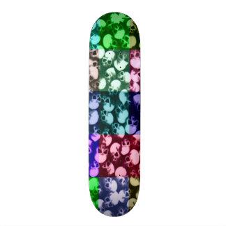 Skully Skull Rainbow Graveyard Pop Art Skate Board