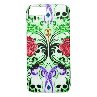 Skully Skull Royal Flush iPhone 7 Case