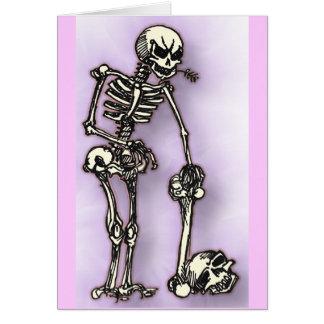 skully tarjeta de felicitación