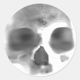 Skully Top Schwag Round Sticker