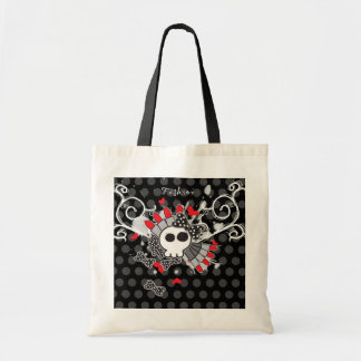 Skully V - Lipstick Budget Tote Bag