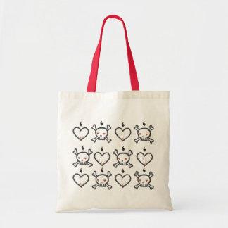 Skully vi - Skull Heart Budget Tote Bag