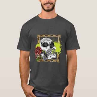 Skully with Dahlias T-Shirt