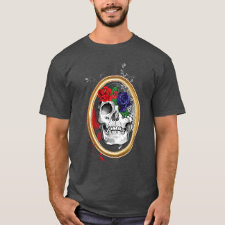Skully with Roses T-Shirt