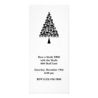 Skully Xmas Tree Rack Card