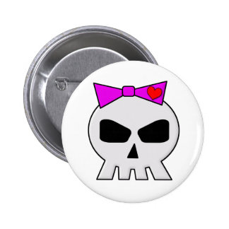 SkullyBow-220 Pinback Buttons