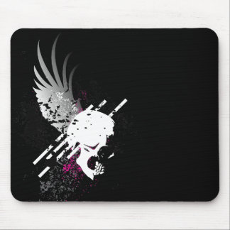 skullz. down winged. mouse pad