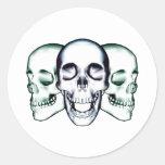 Skullz Etiquetas Redondas