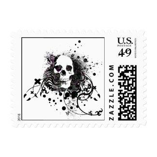 skullz. straight twisted arrows. postage