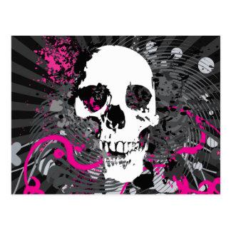 skullz. straight twisted arrows. postcard