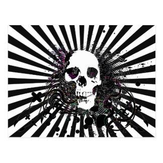 skullz. twisted arrows. postcard