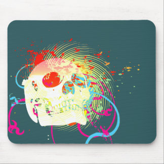skullz. up twisted arrows. mouse pad