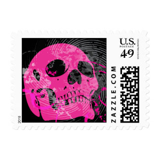 skullz. up twisted arrows. postage stamps