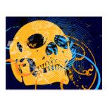 skullz. up twisted arrows. postcard