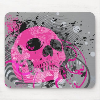 skullz. up with bubbles. mouse pad