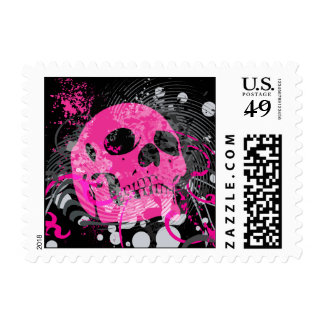 skullz. up with bubbles. postage