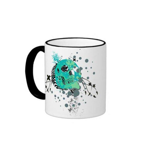 skullz. up with bubbles. ringer mug