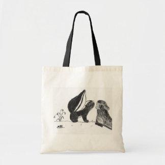 Skunk <3s Boot Tote Tote Bags