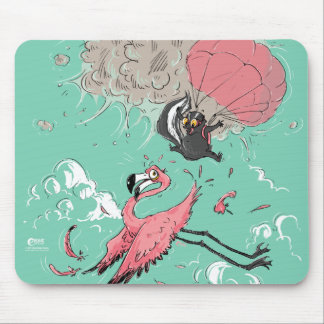 Skunk and Flamingo Mouse Pad