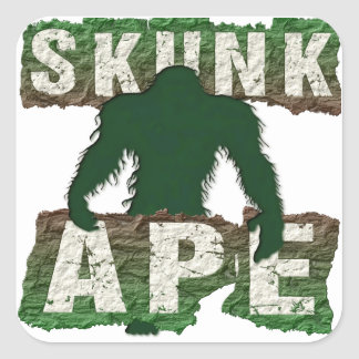 SKUNK APE SQUARE STICKER