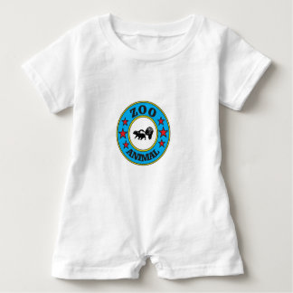 skunk at the zoo? baby romper