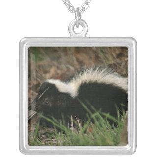 Skunk Behavior Sterling Silver Necklace