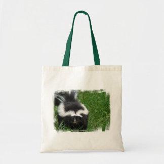 Skunk Budget Tote Bags