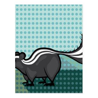 Skunk Cartoon vector Postcard