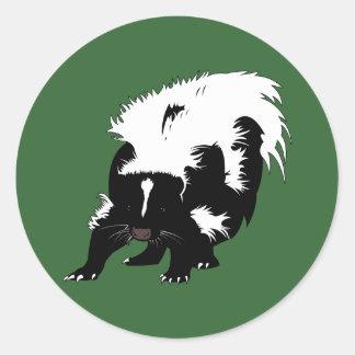 Skunk Classic Round Sticker