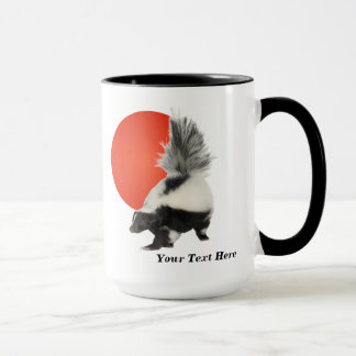 Skunk Coffee Mug  - Take A Break! Orange Sun