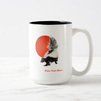 Skunk Coffee Mug  - Take A Break! Orange Sun #2