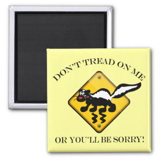Skunk Crossing Sign 2 Inch Square Magnet