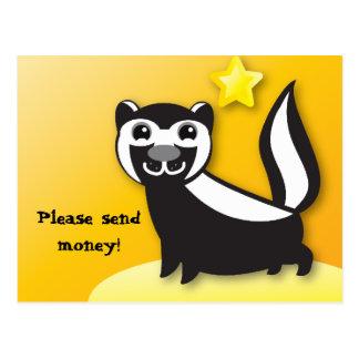 SKUNK cute Kawaii smiling Postcard