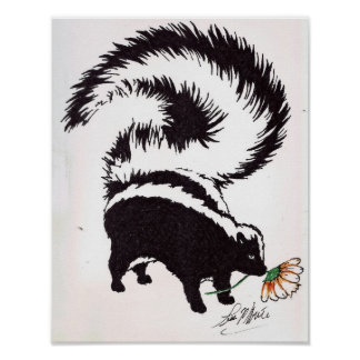 skunk flower poster