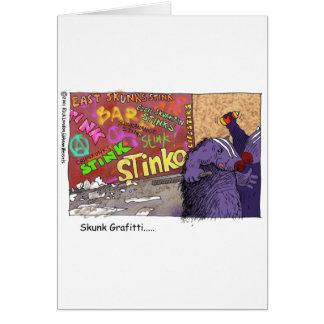 Skunk Graffiti Funny Cartoon Gifts & Tee Greeting Card