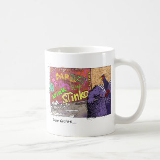 Skunk Graffiti Funny Cartoon Gifts & Tee Coffee Mugs