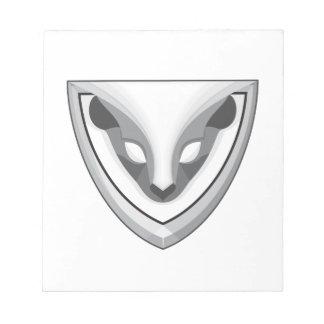 Skunk Head Front Shield Retro Notepad