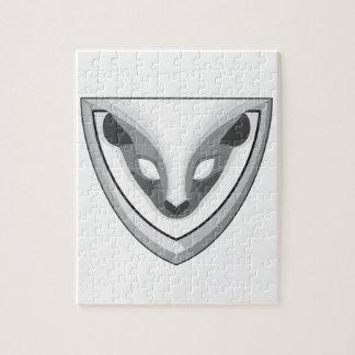 Skunk Head Front Shield Retro Puzzle