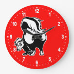 Skunk Large Clock