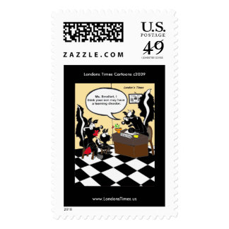 Skunk Learning Disodors Funny Real Postage Stamps