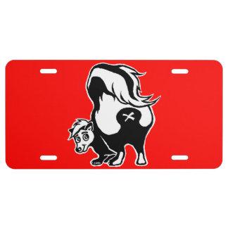 Skunk License Plate