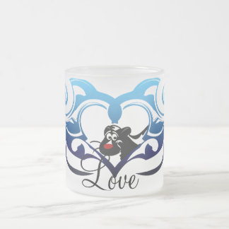 Skunk Love Frosted Glass Coffee Mug