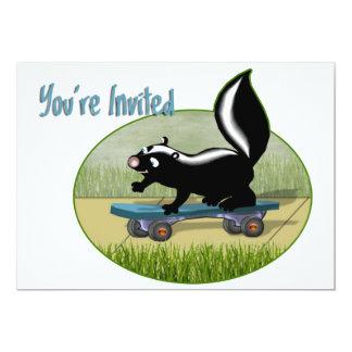 Skunk on a Skateboard Card